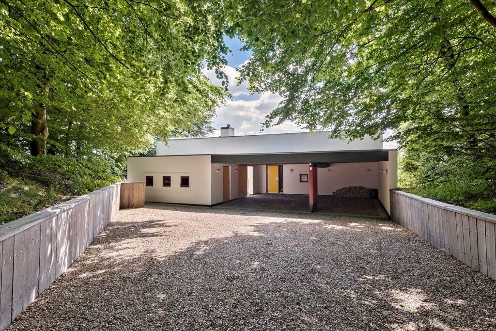 Lækkert arkitekttegnet hus i Herning, Gårdhus, sedumtag