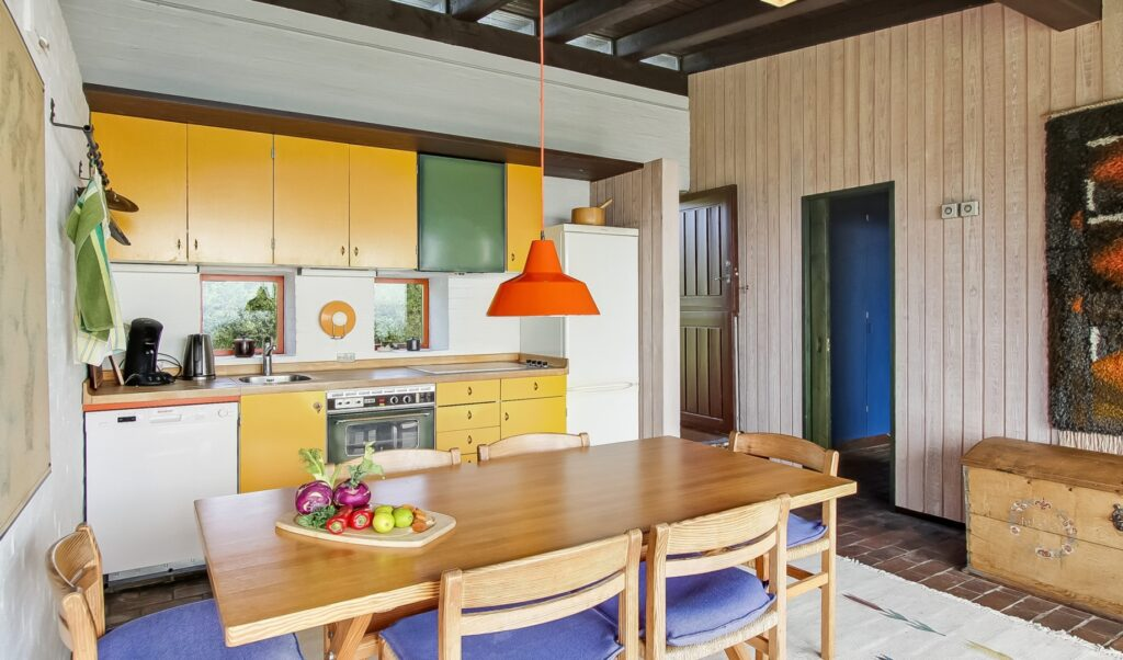 60'er køkken, sommerhus køkken