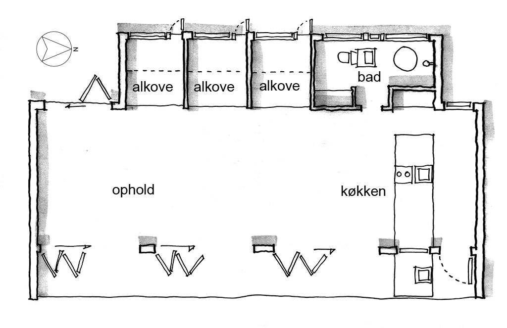 planskitse, arkitektskitse