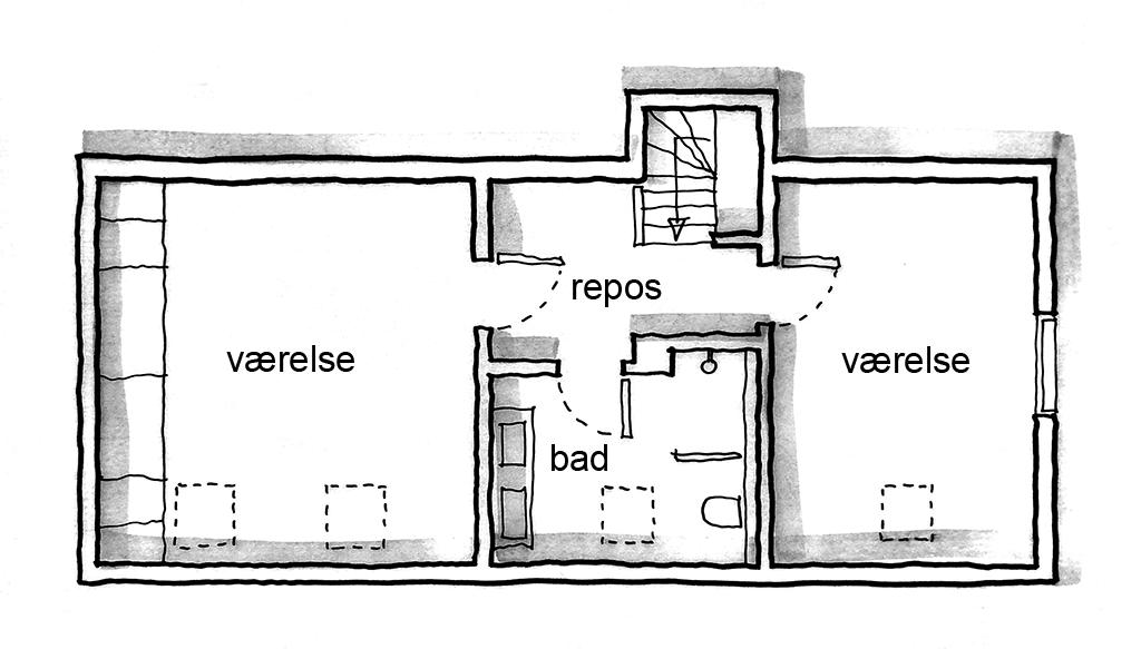 planskitse, arkitekttegnet