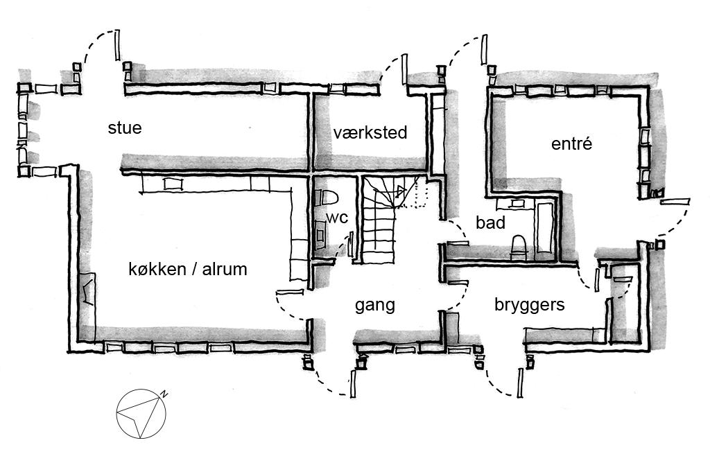 Plantegning, planskitse, arkitektskitse