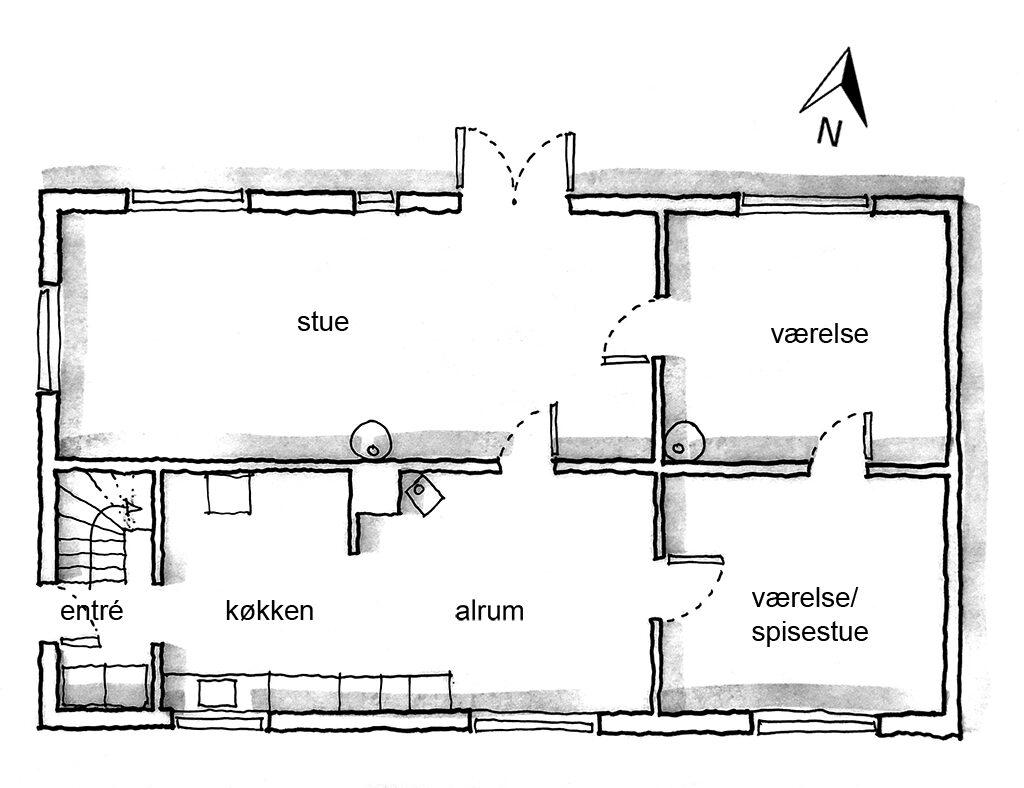 Arkitektskitse, plantegning, planskitse