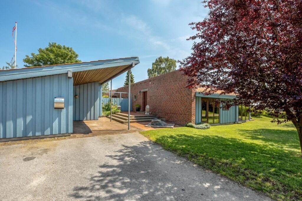 Arkitekttegnet bolig i Juelsminde. Farvesætning af hus