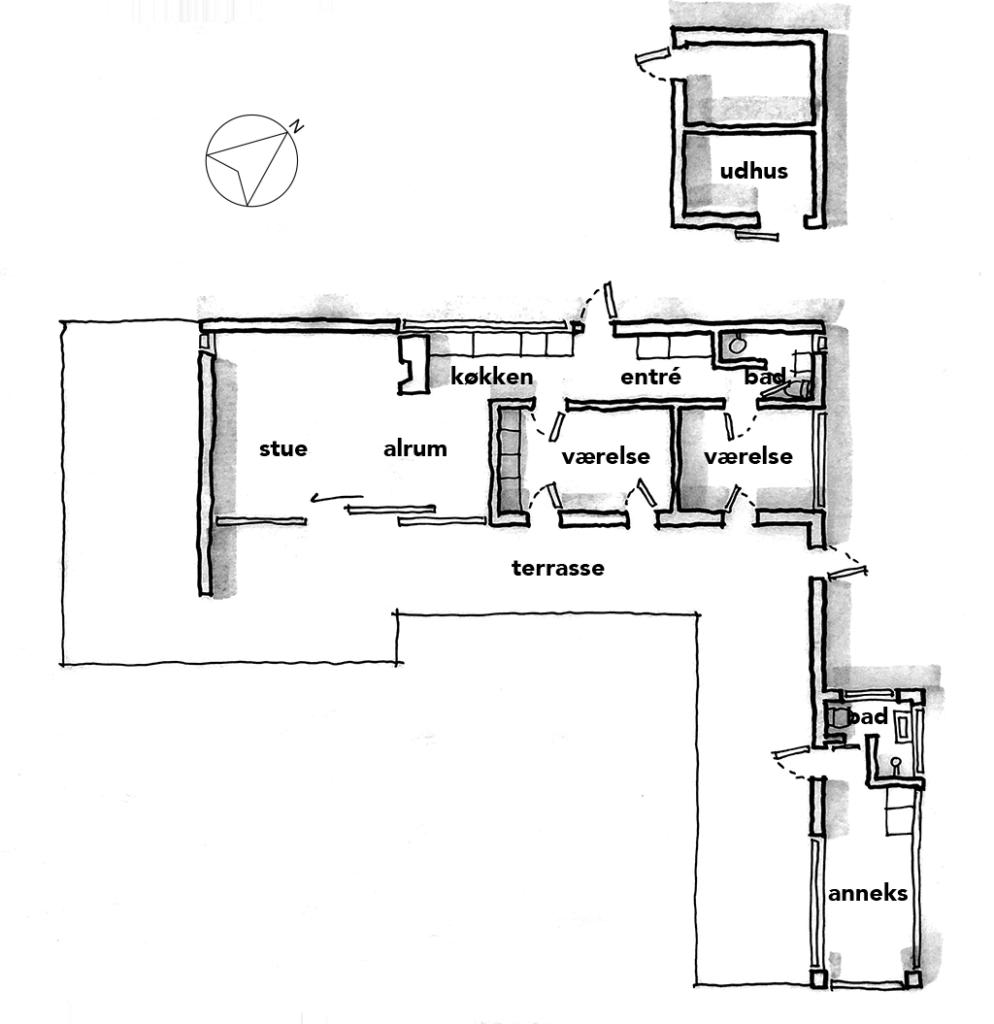Arkitekt skitse, håndskitse, planskitse