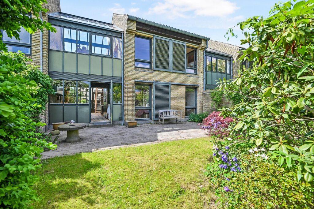 Palle Suenson, Arkitekttegnet bolig i Gl. Holte, glasbygning, udestue, vinterstue