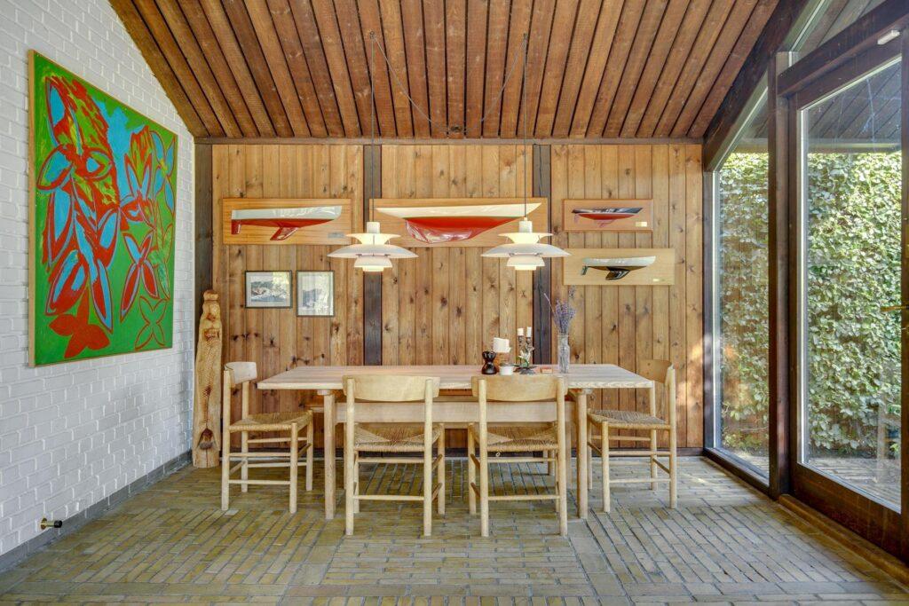 Børge Mogensen, Børge Mogensens hus i Gentofte til salg. Udestue Arkitekttegnet hus til salg
