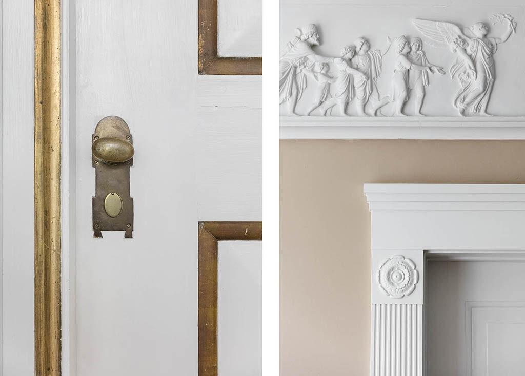 Nyklassicistisk interiør, Ulrik Plesner, Patriciervilla til salg, arkitekttegnet
