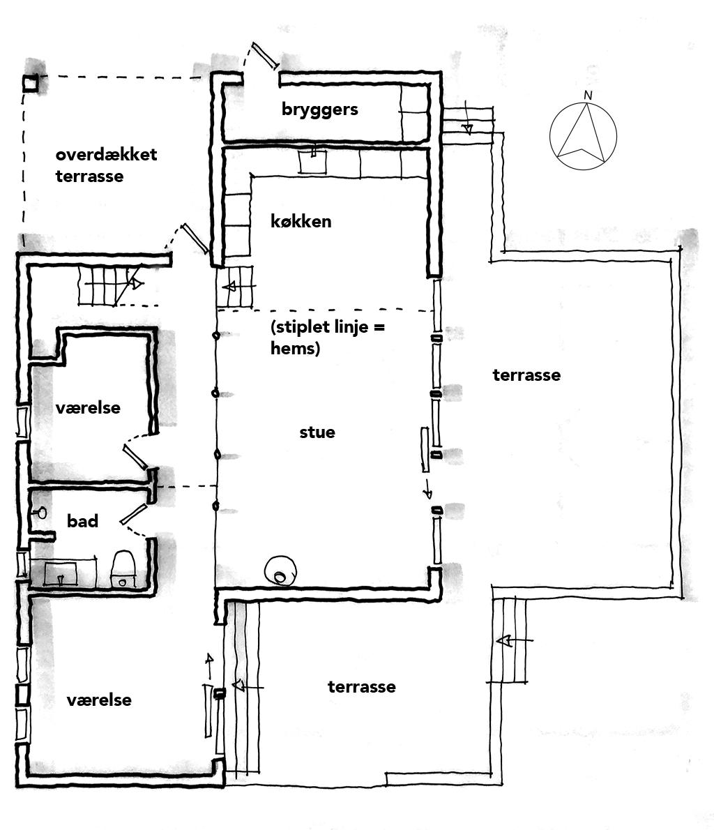 planskitse, arkitekttegning, arkitektskitse