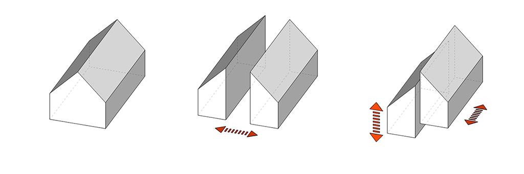 Arkitekt diagram. Huskoncept