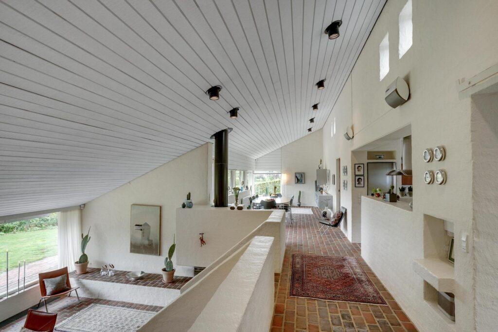 Arkitekttegnet hus, arkitekttegnet villa i Kolding, smuk stue, åben planløsning