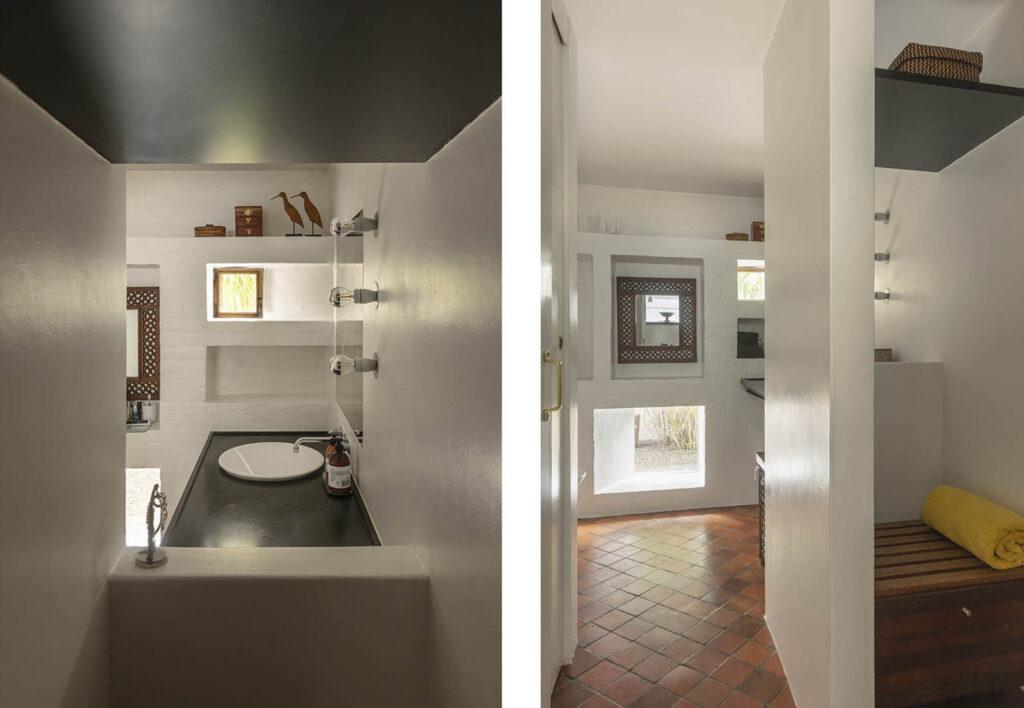 Badeværelse med nicher, Arkitekttegnet hus