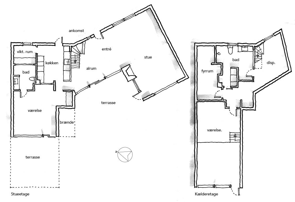 Planskitse. Arkitekttegning