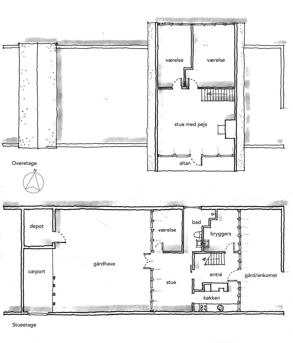 Arkitekttegnet skitse, arkitekttegnet planskitse