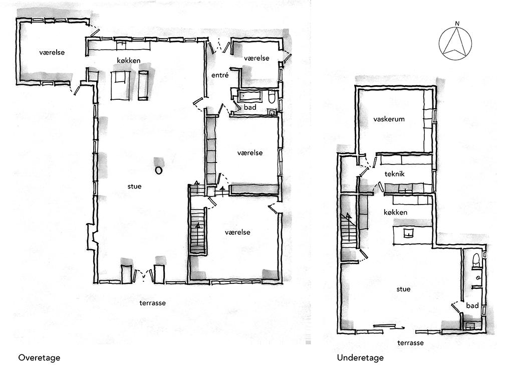 Arkitekttegnet planskitse