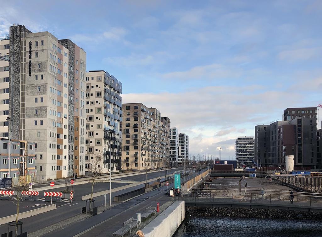 Aarhus Ø, Bernhard Jensens Boulevard, januar 2020