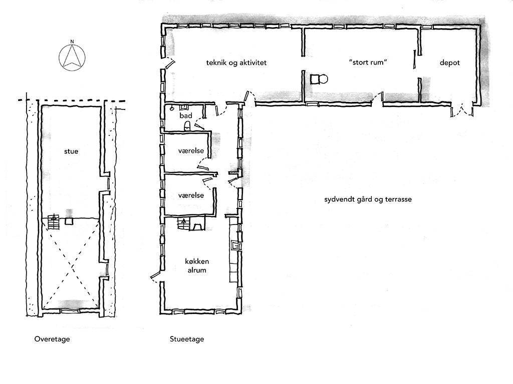 Planskitse, arkitektegning, arkitektskitse, arkitekttegnet