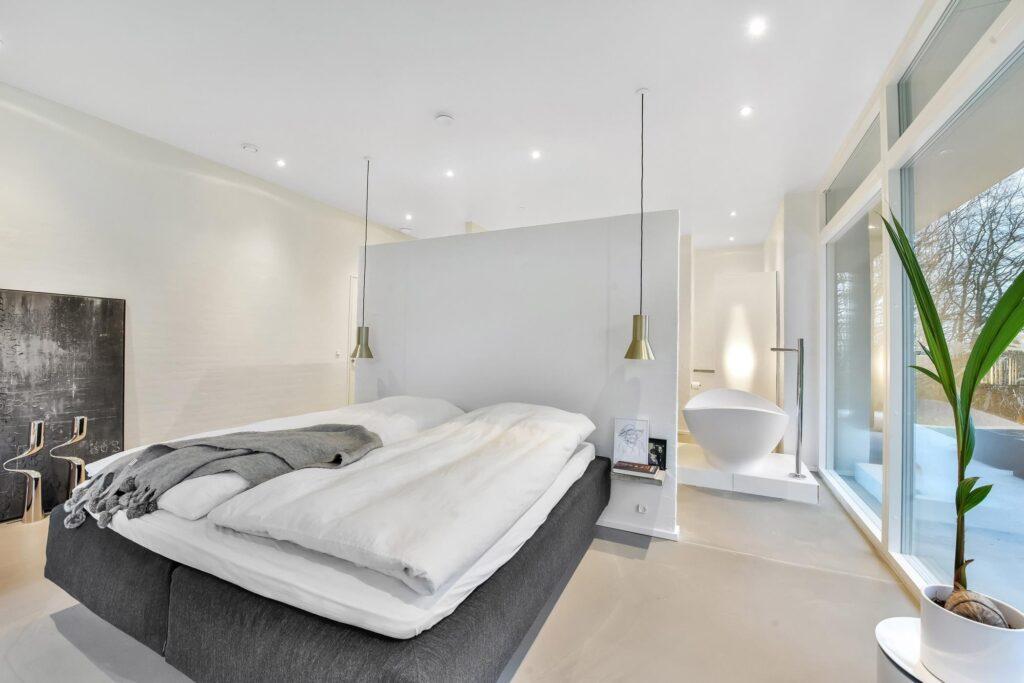Soveværelse med badekar, Signatur Arkitekter