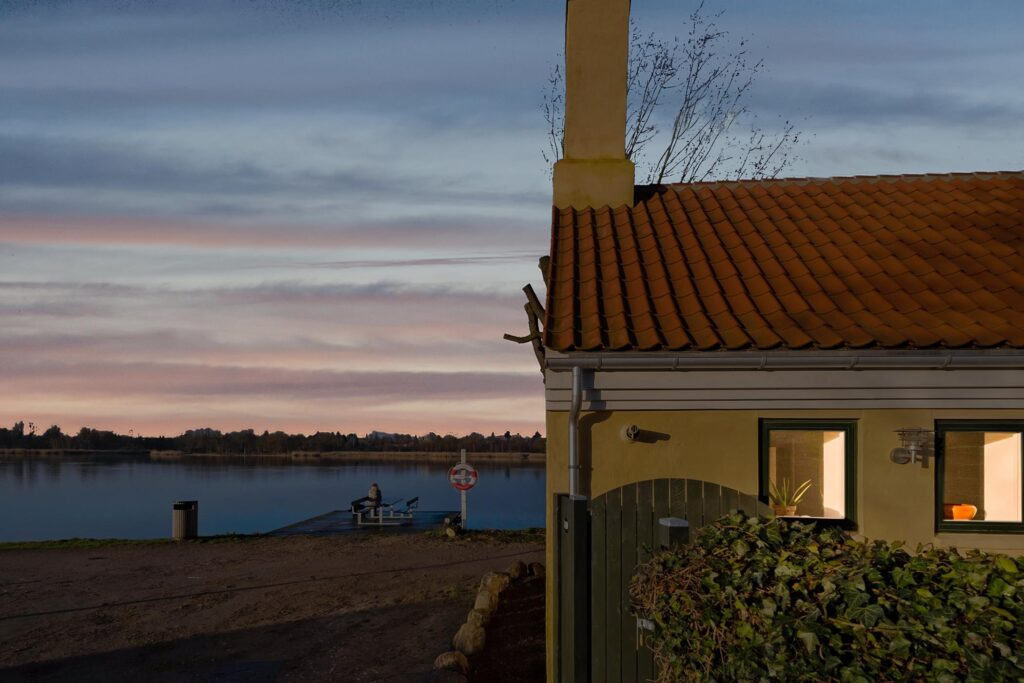 Aftenidyl ved Gentofte Sø, Aftenstemning Mitschellsstræde, Gentofte