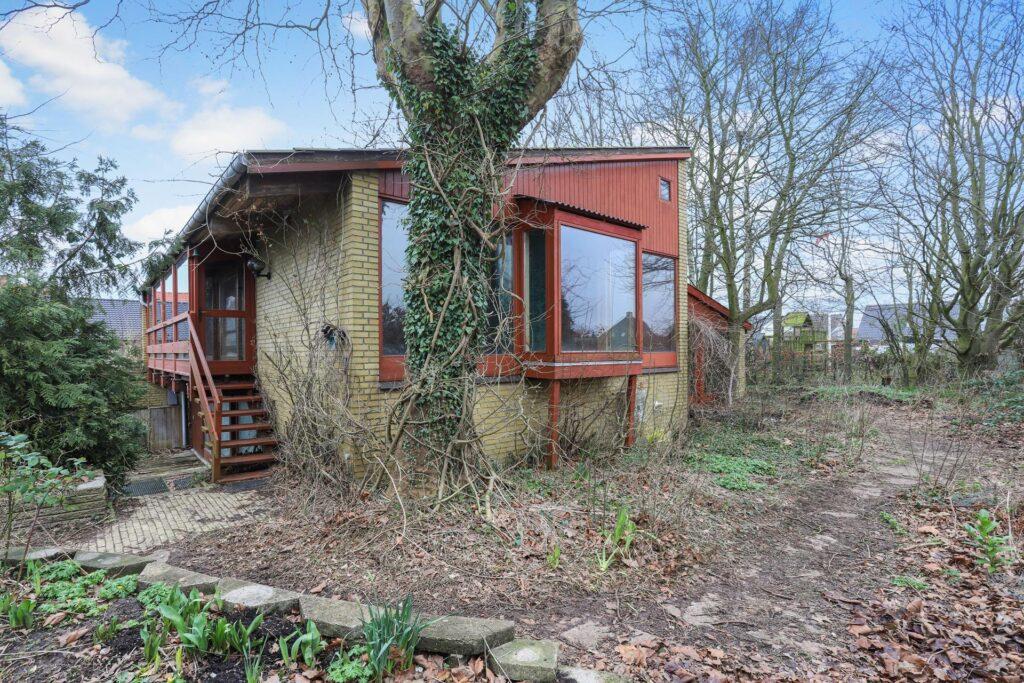 60'er arkitektur, 60'er parcelhus med forskudte niveauer.