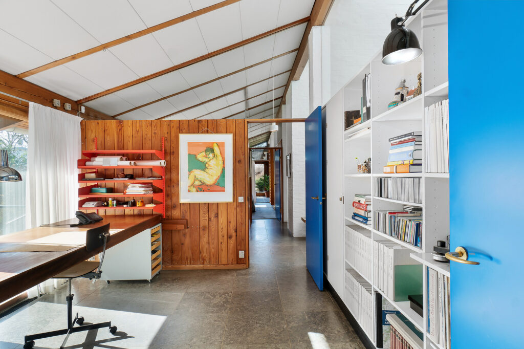 Kontor i japansk inspireret hus, Arkitekttegnet villa, 70'er arkitektur