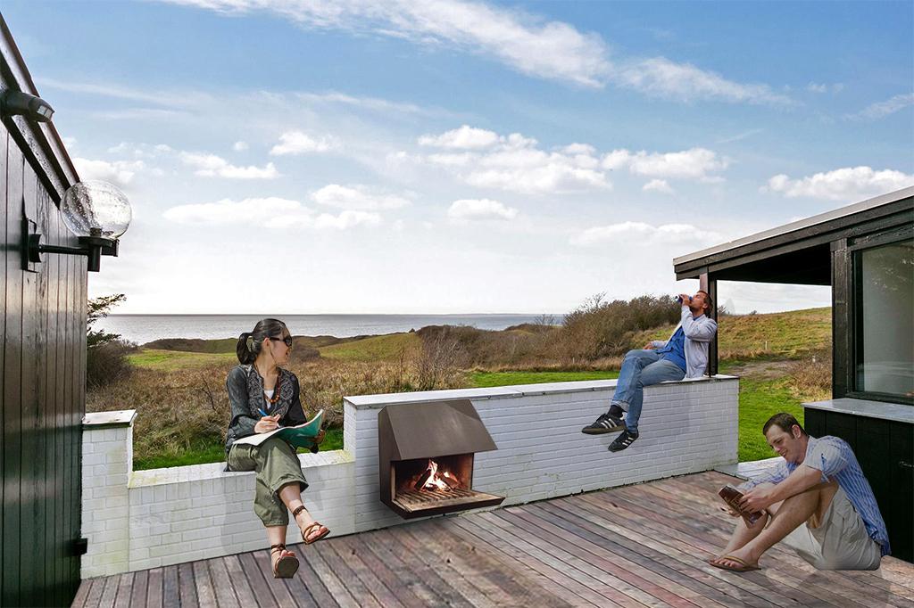 Visualisering af udsigt fra terrasse på Samsø