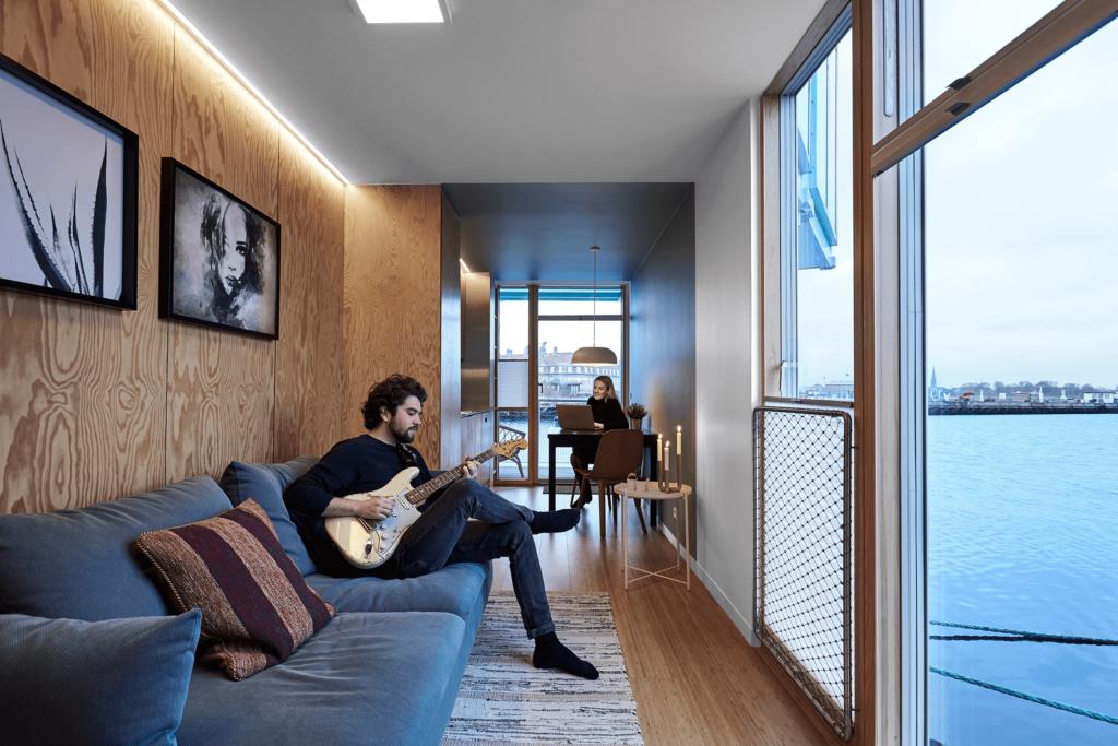 Urban Rigger, lejlighed på vandet i København, Arkitekt BIG