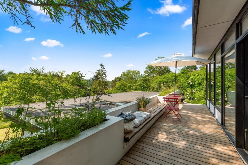 Japansk inspireret 60'er villa i Holte. Arkitekttegnet hus