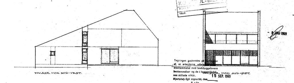 Mads Møllers eget hus, facadetegning