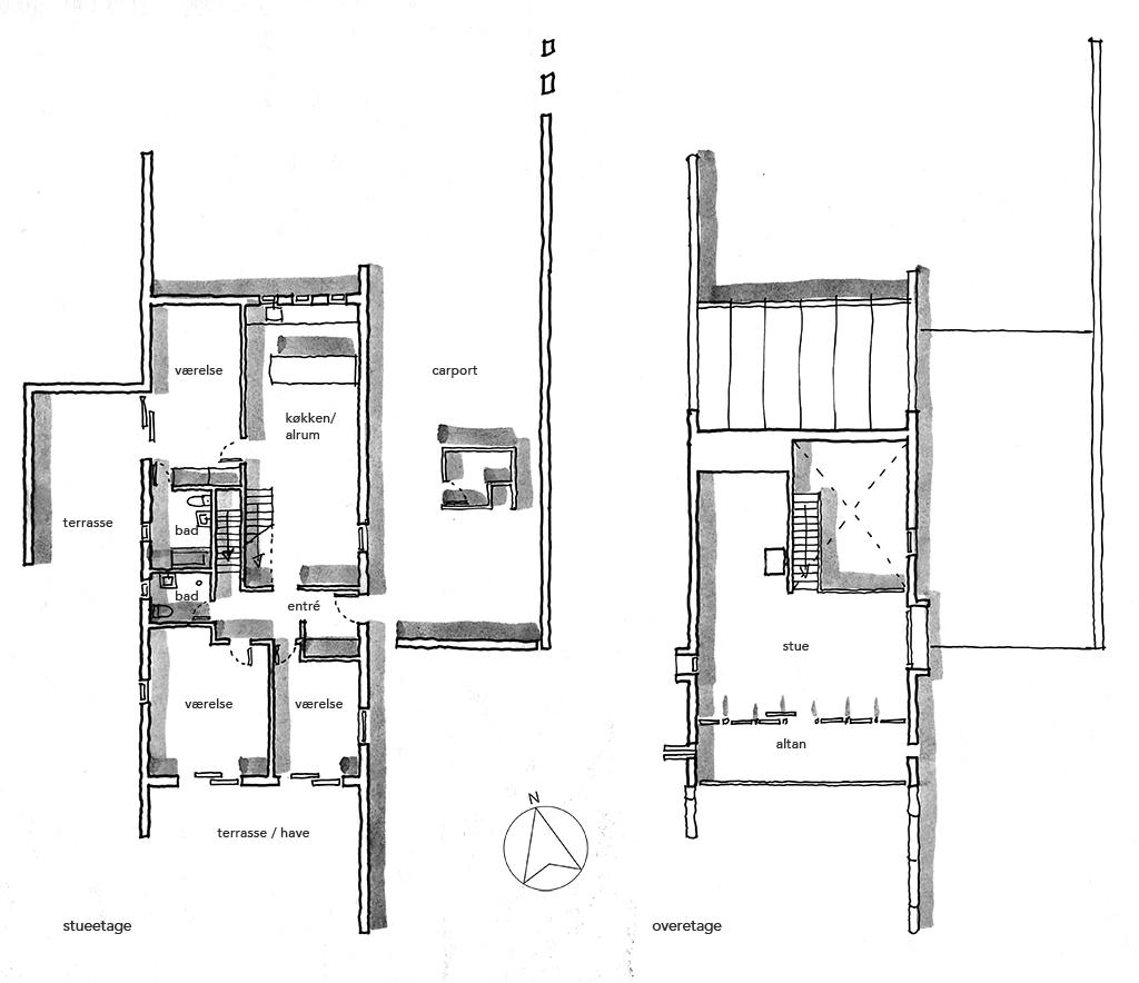 Planskitse, Solklintvej klynkehus, arkitekttegning