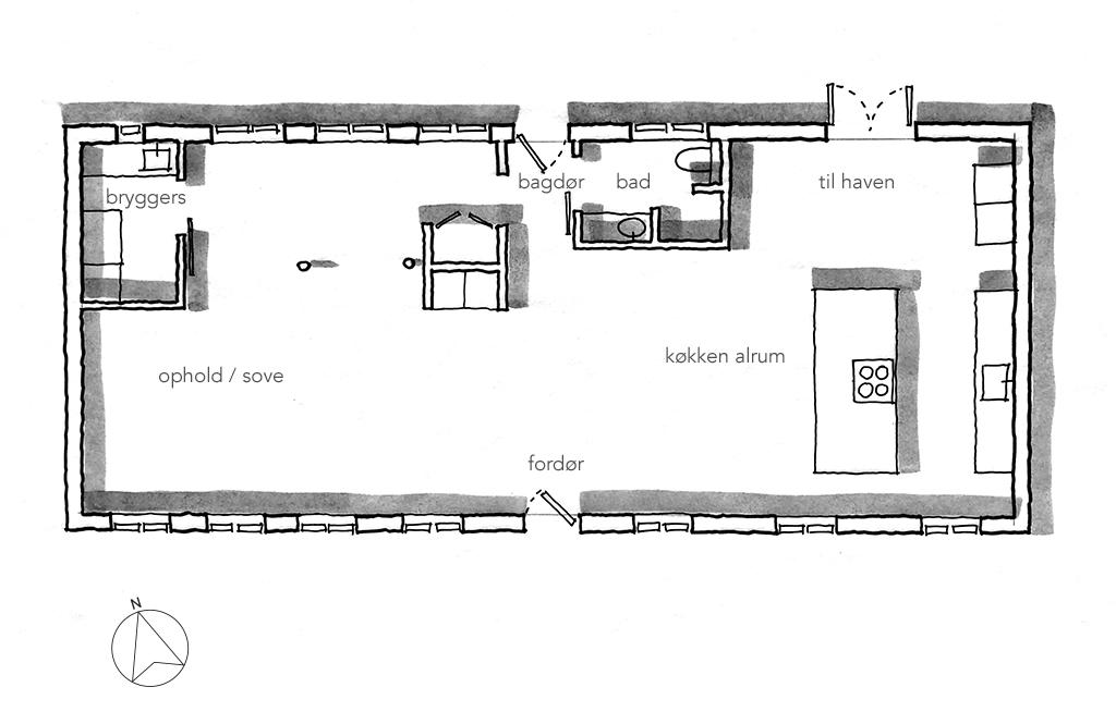 håndtegning, planskitse, arkitekttegning
