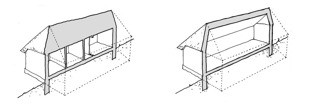 Snit skitse, arkitektegning, håndskitse