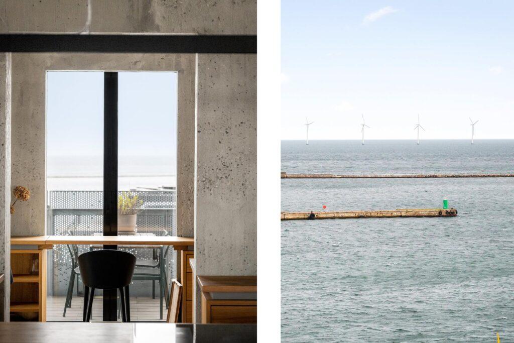 Udsigt over Øresund fra The Silo
