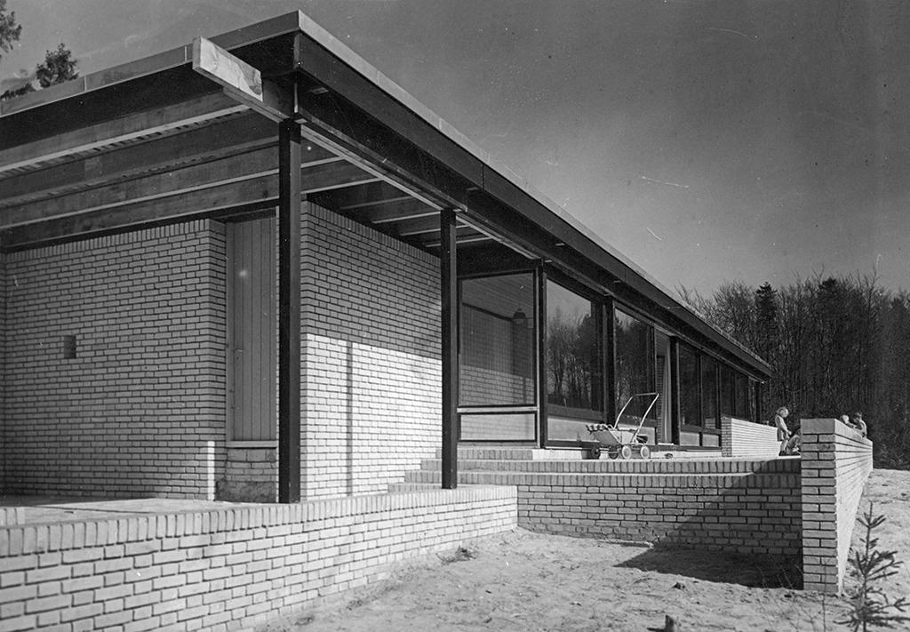 Utzons eget hus i Hellebæk, © Utzon Archives / Aalborg University & Utzon Center.