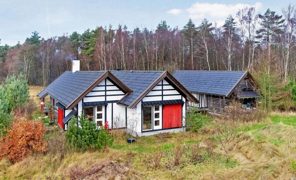 japansk inspireret hus, arkitekttegnet hus, arkitekttegnede huse, hus på Læsø