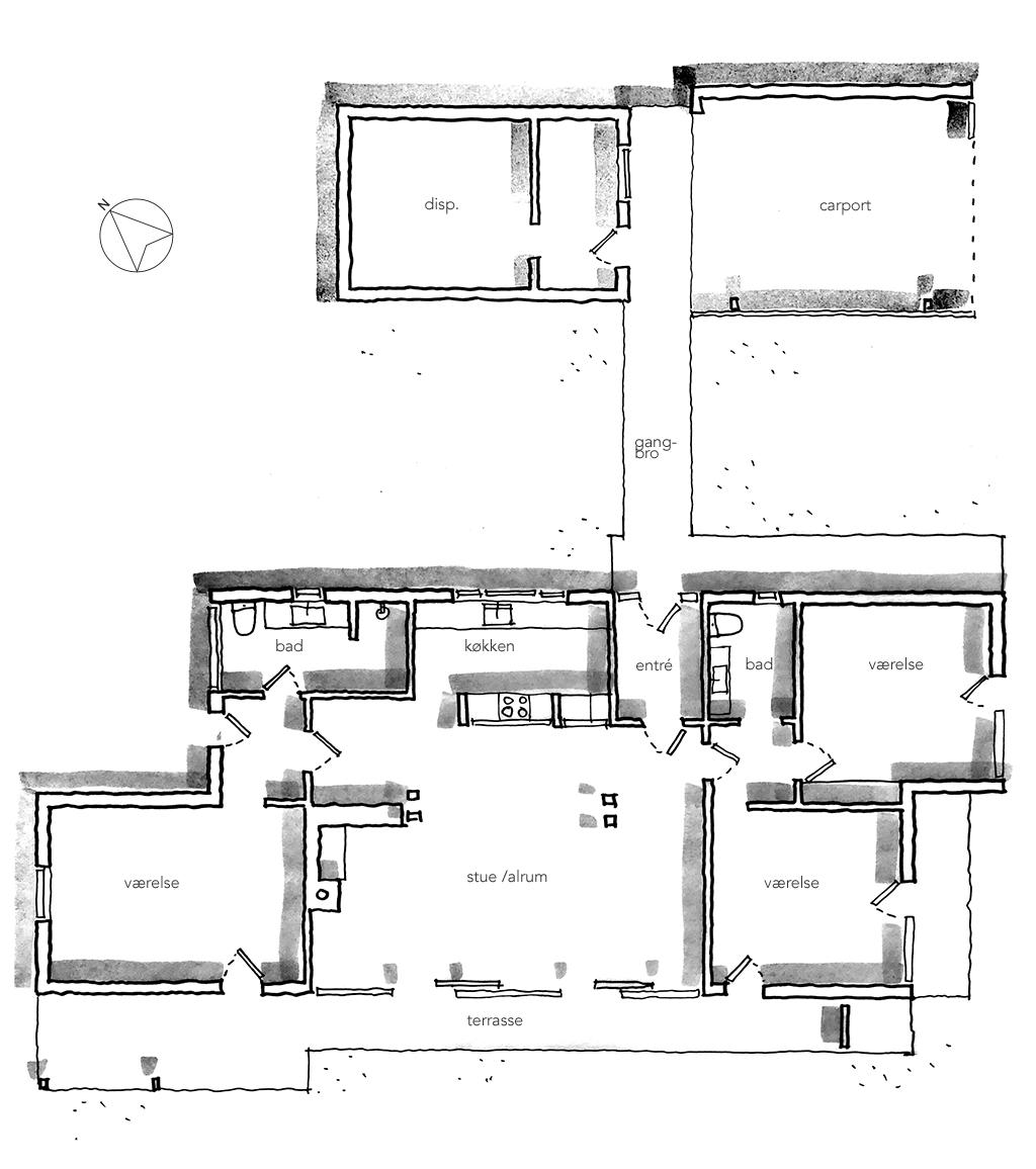 Planskitse, arkitekttegning.