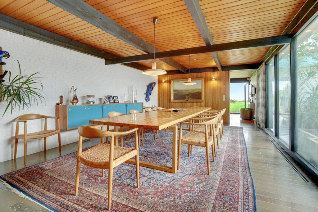60'er interiør, arkitekttegnet villa i Sæby, spisestue