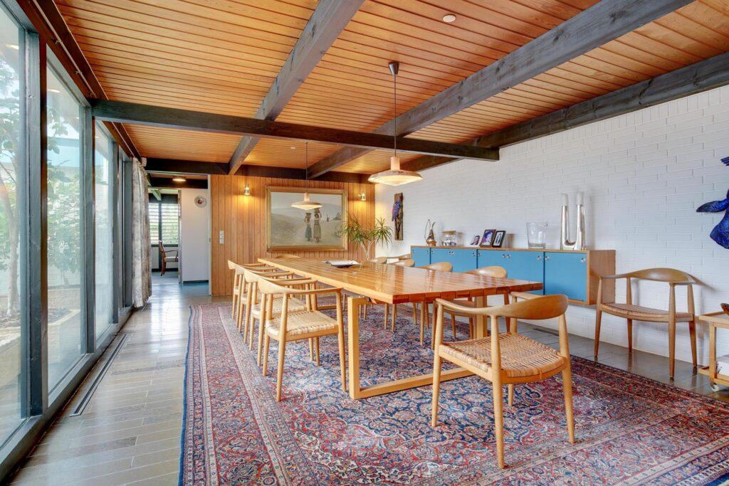 60'er interiør, arkitekttegnet villa i Sæby