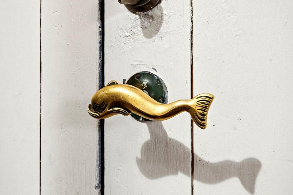 Nordstjernen Fredericia, smukt dørhåndtag