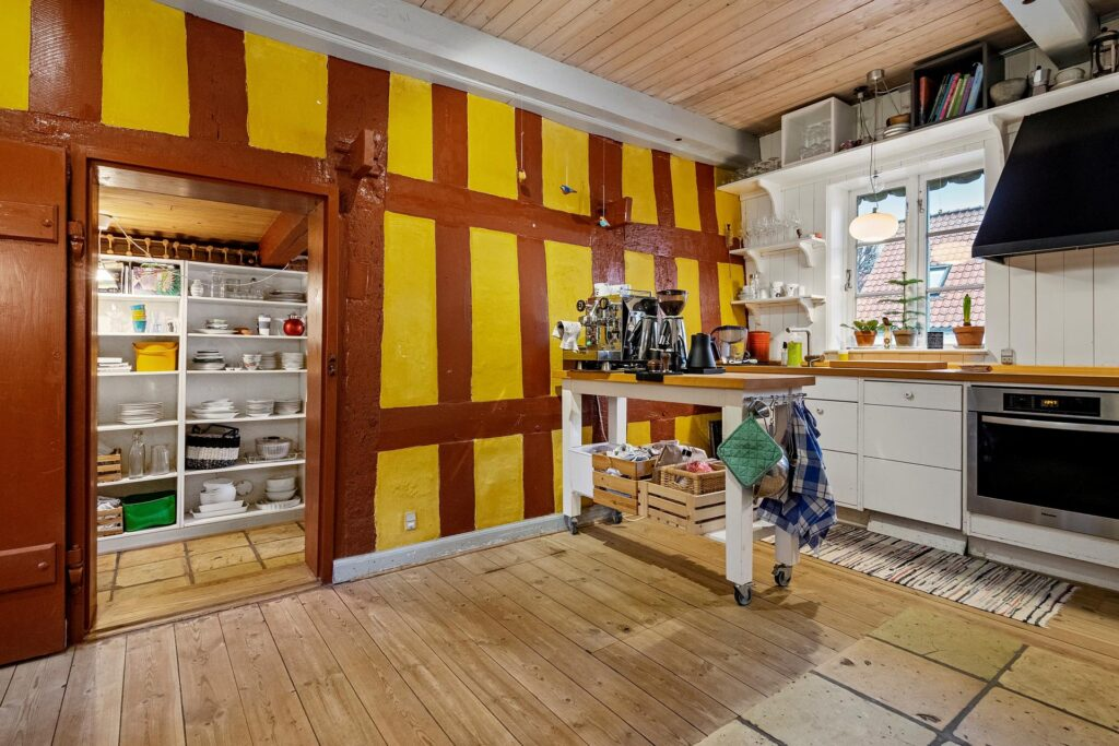 Rustikt køkken med bindingsværk, Nordstjernen i Fredericia
