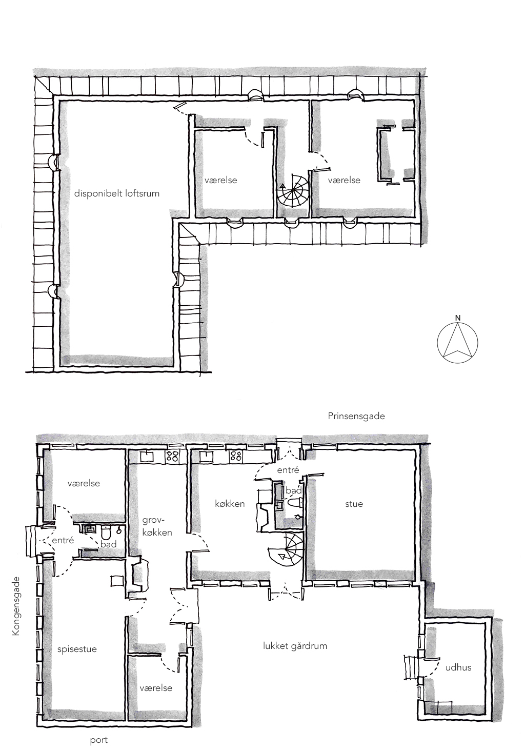 Planskitse af Nordstjernen, arkitekttegning