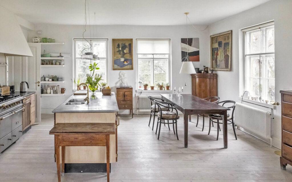 Køkken med sjæl, lyst og luftigt køkken, skandinavisk stil