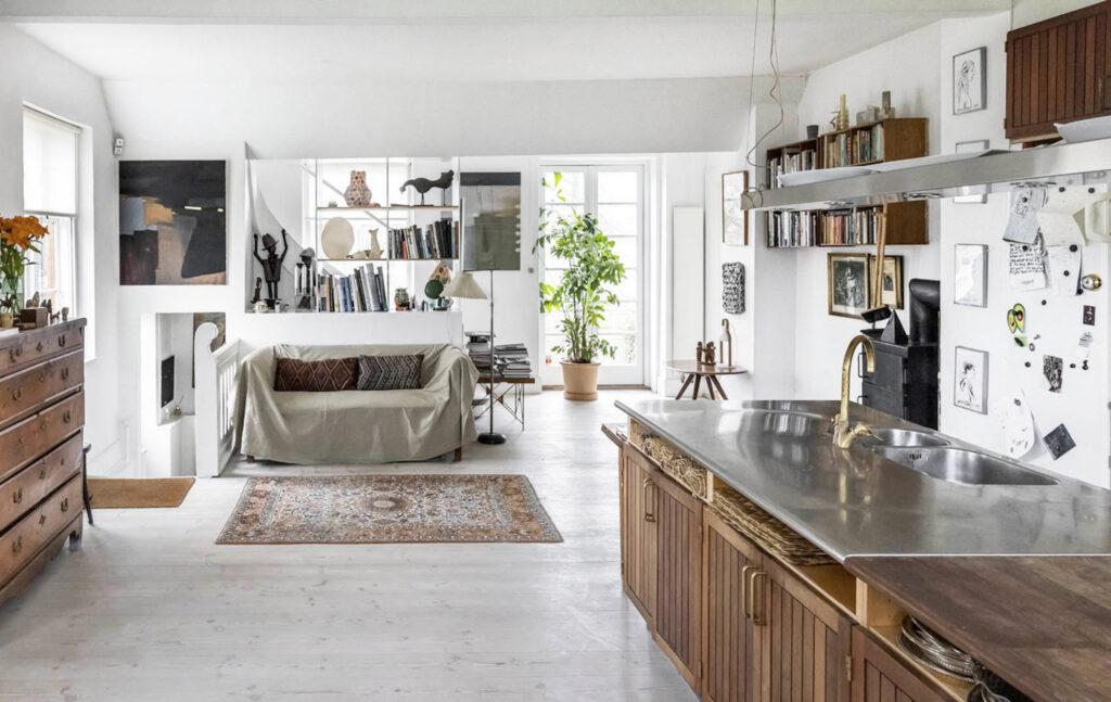 Køkken med sjæl, lyst og luftigt køkken, skandinavisk sti